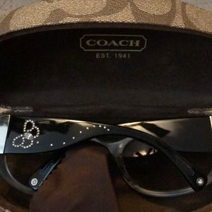 Coach Accessories - Coach sunglasses with crystal butterfly
